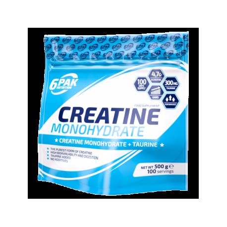 6PAK NUTRITION CREATINE MONOHYDRATE - 500G
