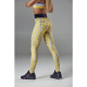LEGGINSY DAMSKIE LIVE & FIGHT TEMPO GRAY & YELLOW